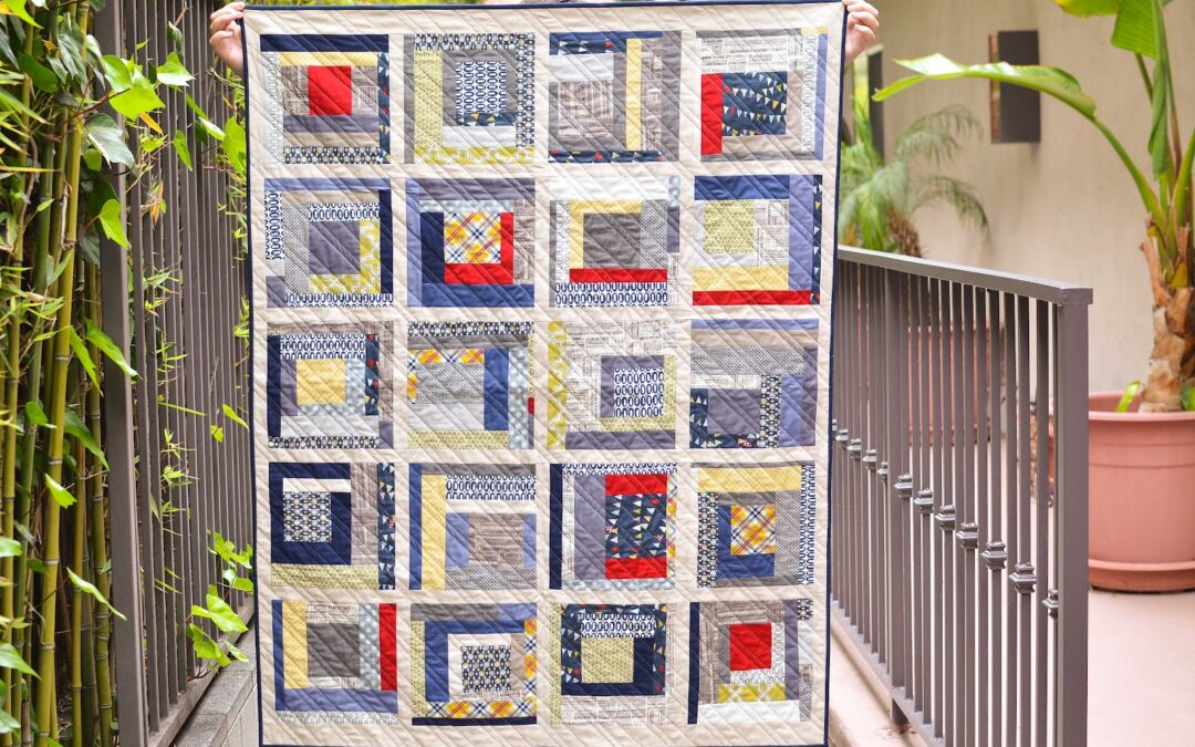 Inspiration of the Week – improv boy quilt