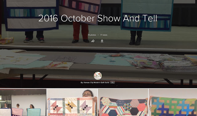 October-November-December Meetings' Show and Tell