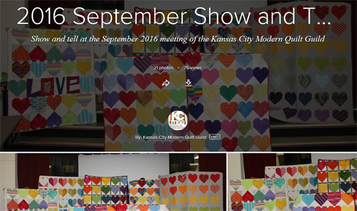 September Show and Tell and Quilts for Pulse